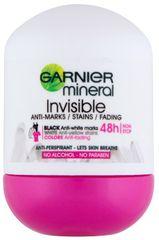 Garnier dezodorant Mineral Invisi Black, White&Colors Roll-on, 50 ml