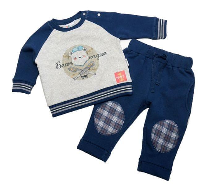Gelati chlapecká tepláková souprava Bear 68 šedá/modrá
