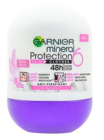 Garnier dezodorant Mineral Protection 6 Cotton Fresh Roll-on, 50 ml