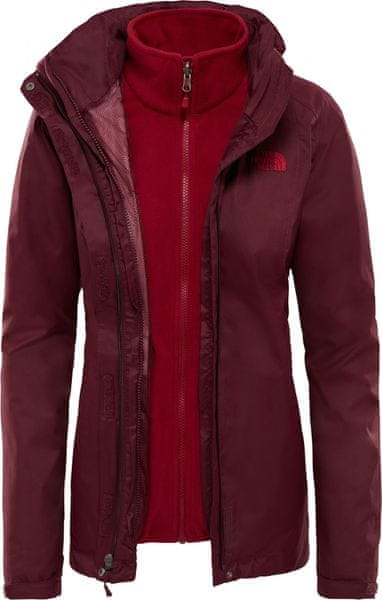 The North Face Women'S Evolve II Triclimate Jacket Fig Brown/Rumba Red M