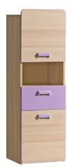 LOIRENTO, skříňka L4, jasan/fialová