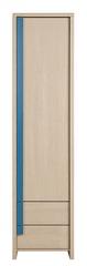 CAPS, skříň REG1D2S, dub sv. belluno/modrá