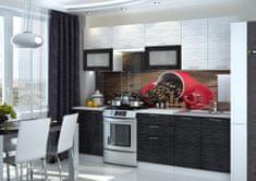 Kuchyně VIALERIA 200/260, black stripe