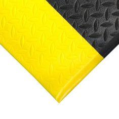 Černo-žlutá gumová protiskluzová protiúnavová průmyslová rohož - 0,9 cm