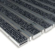 FLOMAT Textilní hliníková kartáčová vnitřní vstupní rohož Alu Low Extra, FLOMAT - 1 cm
