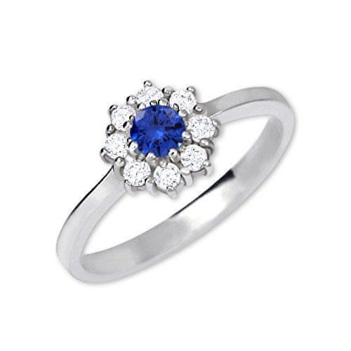Brilio Silver Stříbrný zásnubní prsten 426 001 00432 04 - modrý - 2,30 g 50 mm