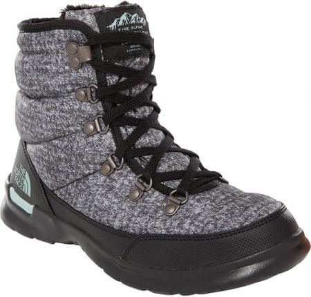 The North Face Women'S Thermoball Lace II Burnished Houndstooth Print/Blue Haze 37