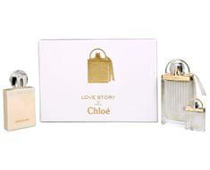 Chloé Love Story - EDP 75 ml + tělové mléko 100 ml + miniatura EDP 7,5  ml