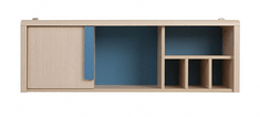 CAPS, záv.skříňka SFW1D/120, dub sv. belluno/modrá