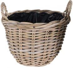 Koopman Květináč košík KUBU, 35 x 25 cm