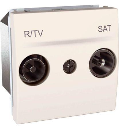 Schneider Electric MGU345425 Zásuvka satelitní TV-Sat/R koncová,marfil