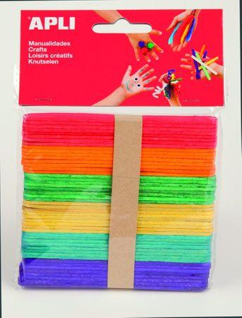 Nanuková dřívka Apli mix barev 114x10x2 mm/50 ks