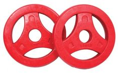 Tunturi gumirane uteži z ročajem, 1,25 kg, rdeči