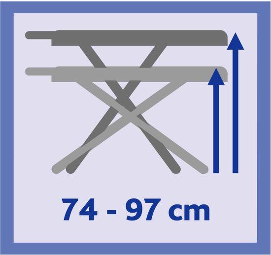 VILEDA Park&Go Plus kék vasalódeszka 120 x 38 cm