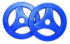 Tunturi gumirane uteži z ročajem, 2,5 kg, modri