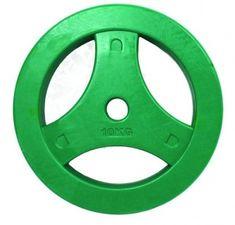 Tunturi gumirana utež z ročajem, 10 kg, zelena