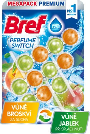 Bref Perfume Switch Peach-Red Apple 3x 50 g