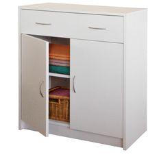 IDEA nábytok Bielizník s dvierkami 4123 biela