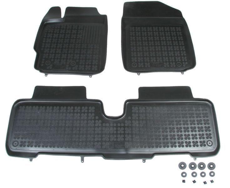 REZAW-PLAST Gumové koberce, černé, sada 3 ks (2x přední, 1x spojený zadní), Toyota Urban Cruiser od r. 2009, Yaris II 2005-2011