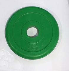 Ruilin gumirana utež, 1 kg, zelena