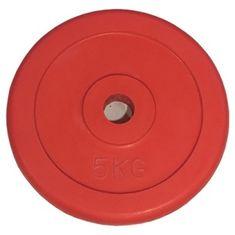 Ruilin gumirana utež, 5 kg, rdeča