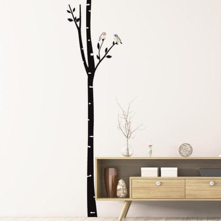 Crearreda dekorativna stenska nalepka Ptice na brezi, XL
