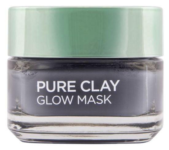 Loreal Paris maska za obraz Pure Clay Glow, učinek sijoče polti, 50 ml