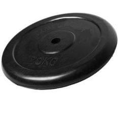 Ruilin gumirana utež, 20 kg, črna