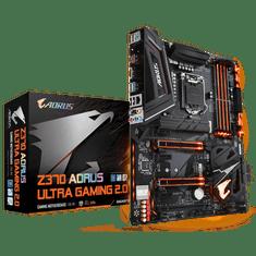 Gigabyte osnovna plošča Z370 AORUS Ultra Gaming 2.0, DDR4, USB3.1 Gen2, LGA1151, ATX