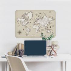 Crearreda dekorativna stenska nalepka Zemljevid z ladjami, L