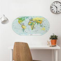 Crearreda dekorativna stenska nalepka Zemljevid držav, L