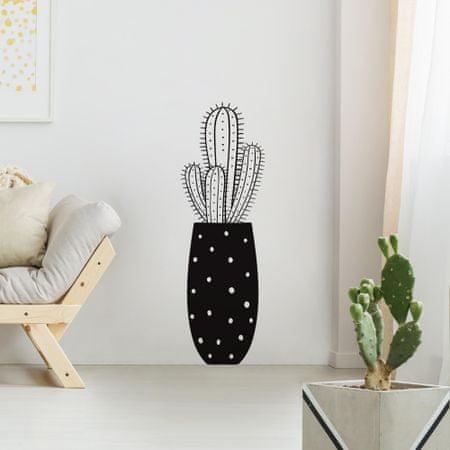 Crearreda dekorativna stenska nalepka Kaktus, L