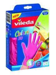 Vileda rokavice za enkratno uporabo MultiSensitive Colors, S/M, 50/1, roza