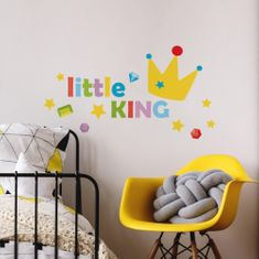 Crearreda stenska dekorativna nalepka napis Little King, M