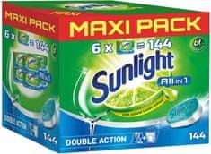 Sunlight All in 1 tablete za pomivalni stroj, 144 kosov