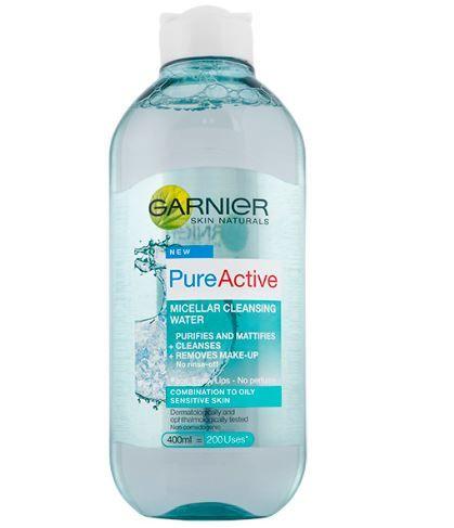 Garnier Skin Naturals Pure Active micelarna voda proti mozoljem, 400 ml