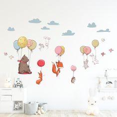 Crearreda stenska dekorativna nalepka Leteče živali, XL