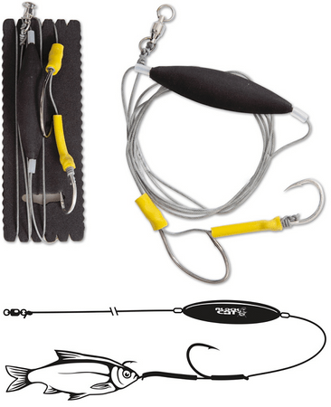 Black Cat Náväzec Hair Rig 100 kg 200 cm 6/0