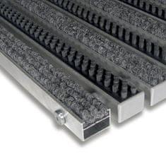 FLOMAT Textilní hliníková kartáčová vnitřní vstupní rohož Alu Extra, FLOMAT - 2,2 cm
