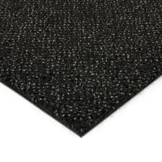 FLOMAT Černá kobercová vnitřní čistící zóna Cleopatra Extra, FLOMAT (Bfl-S1) - 1 cm