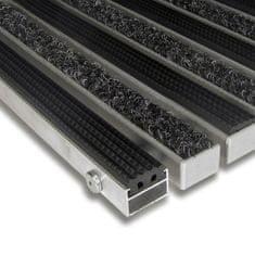 FLOMAT Textilní gumová hliníková vnitřní vstupní rohož Alu Standard, FLOMAT - 2,2 cm