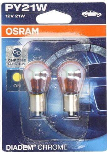 Osram Žárovka typ PY21W, 12V, 21W, Diadem Chrome