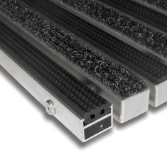 FLOMAT Textilní gumová hliníková vnitřní vstupní rohož Alu Standard, FLOMAT - 2,7 cm