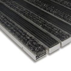 FLOMAT Textilní gumová hliníková vnitřní vstupní rohož Alu Standard, FLOMAT - 1,7 cm