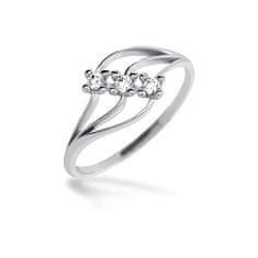 Brilio Dámský prsten s krystaly 229 001 00546 07 - 1,25 g zlato bílé 585/1000