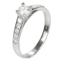 Brilio Dámský prsten s krystaly 229 001 00668 07 - 1,90 g zlato bílé 585/1000