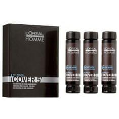 Loreal Professionnel Gelová barva na vlasy pro muže Homme Cover 5 3 x 50 ml