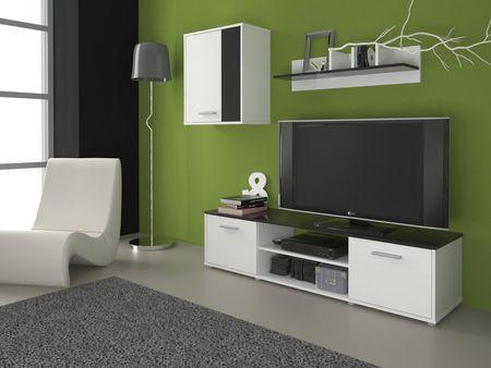 Obývací stěna Zuzana 1, černá/bílá
