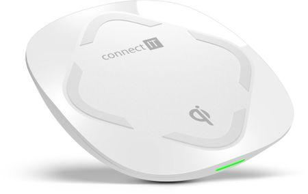 Connect IT Qi CERTIFIED Fast bezdrátová nabíječka, 10 W, bílá CWC-7500-WH - rozbaleno