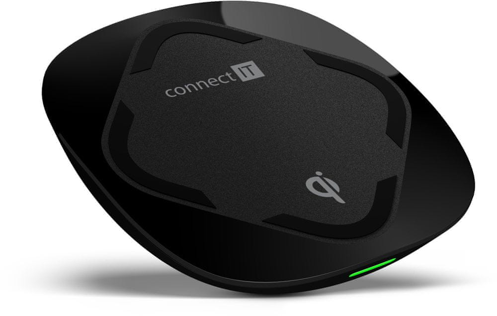 Connect IT Qi CERTIFIED Fast bezdrátová nabíječka, 10 W, černá CWC-7500-BK